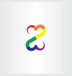 colorful z letter icon symbol vector image
