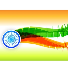 creative indian flag design made in wave style vector image