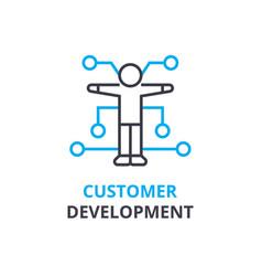 customer development concept outline icon vector image
