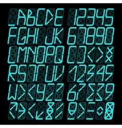Digital blue Alphabet vector