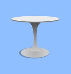 disk shape grey color stylish 3d board pedestal vector image
