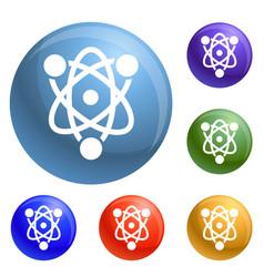 eco atom icons set vector image