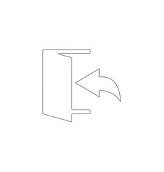 Exit logout and output outlet out flat icon vector