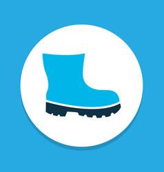 foot protection icon colored symbol premium vector image