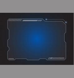 Futuristic hologram monitor vector