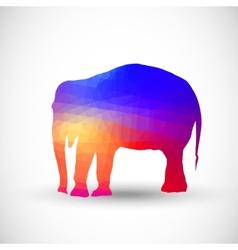 Geometric silhouettes animals Elephant vector