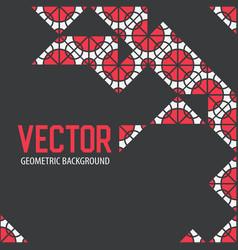 Geometric tiles decoration background vector