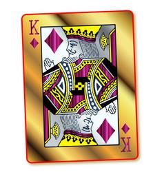 gold king of diamonds vector image