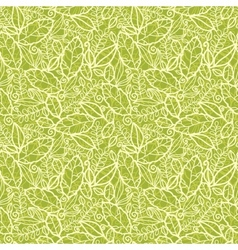 Green lace leaves seamless pattern background vector