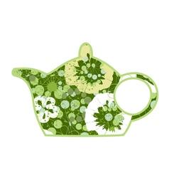 Green teapot vector