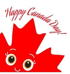 Happy Canada Day card vector image