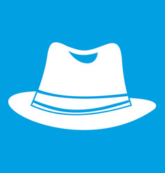 hat icon white vector image