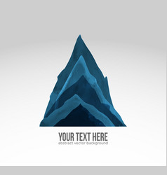 high blue mountian hand drawn with ink in vector image