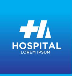 hospital logo designs vector image