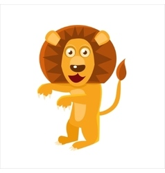 Humanized Lion Standing vector