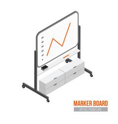 isometric marker board vector image