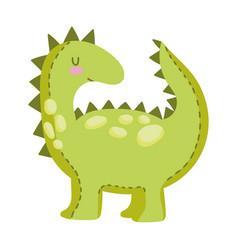 kids toys dinosaur animal cartoon isolated icon vector image