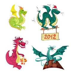 new years dragon collection vector image