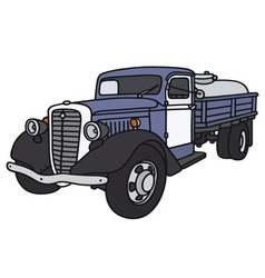 Old dairy tank truck vector