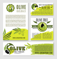 olive oil product poster templates vector image