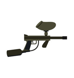 paintball gun isolated sports weapons play rifle vector image