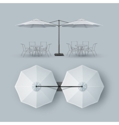 Patio Double Outdoor Cafe Bar Restaurant Parasol vector