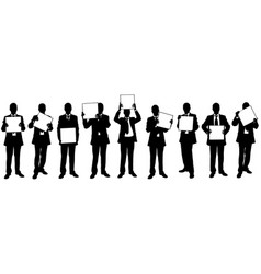 people with signs vector image vector image