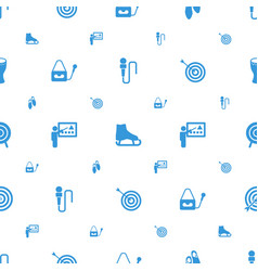 Performance icons pattern seamless white vector