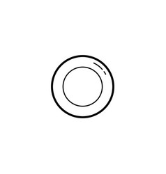 plate dish icon vector image
