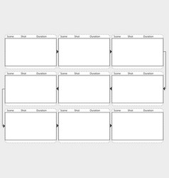 Professional of film storyboard mockup template vector