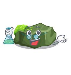 Professor cartoon moss grow on sea rock vector