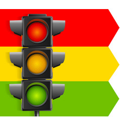 realistic detailed 3d road traffic light concept vector image