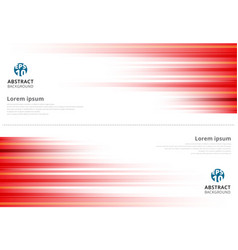 Red abstract horizonal lines background vector