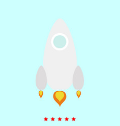 rocket set it is color icon vector image