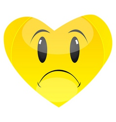 Sad heart vector