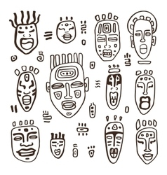 Set of African masks vector image