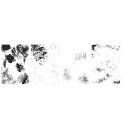 set vintage grunge textures design element for vector image