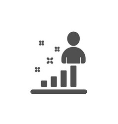 Stats icon business management sign vector