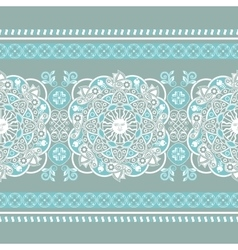 Striped seamless pattern Floral wallpaper vector