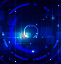 Technology Dark Blue Background vector