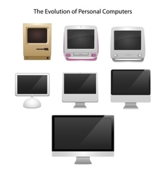 The evolution of computers 7 different types vector image