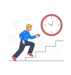 time management - colorful flat design style vector image