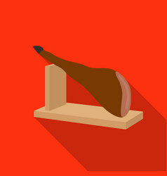 Traditional spanish jamon icon in flate style vector