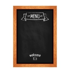 Vertical isolated menu chalkboard for cafes and vector
