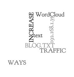 Ways to increase traffic to your blog text word vector