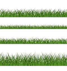 Green grass seamless pattern line design vector image