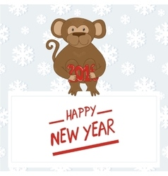 Hand-drawn cartoon style monkey 2016 the Chinese vector image vector image