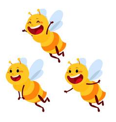 honey and bee character honey vector image
