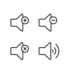 line speaker volume icon on white background vector image vector image