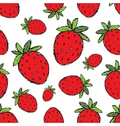 Strawberry seamless pattern for your design vector image vector image